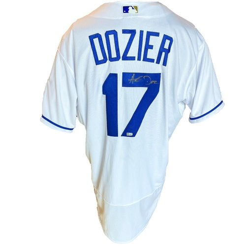 Photo of Autographed Nike Jersey: Hunter Dozier