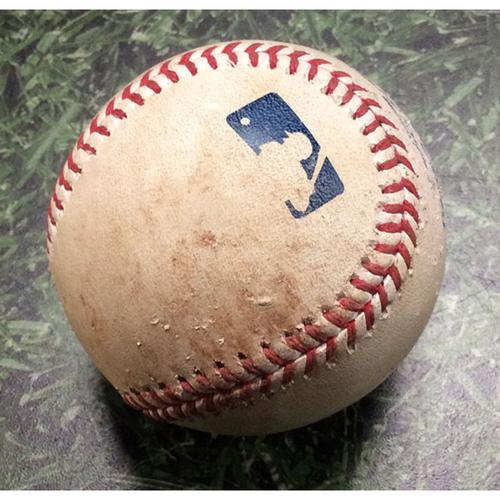 Photo of Game-Used Baseball CHC@MIL 09/06/19 - Zach Davies - Kris Bryant: Double