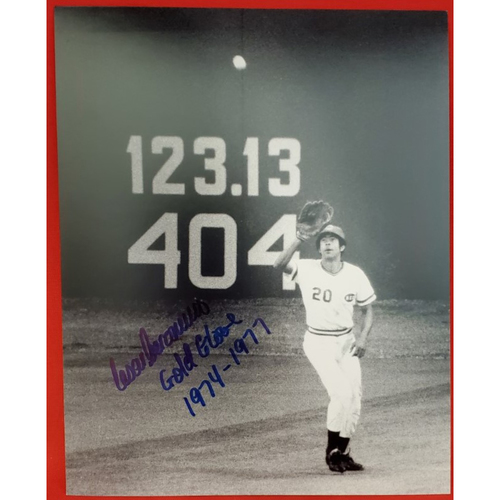 "Photo of Cesar Geronimo Autographed Photo ""Gold Glove 1974-1977"""
