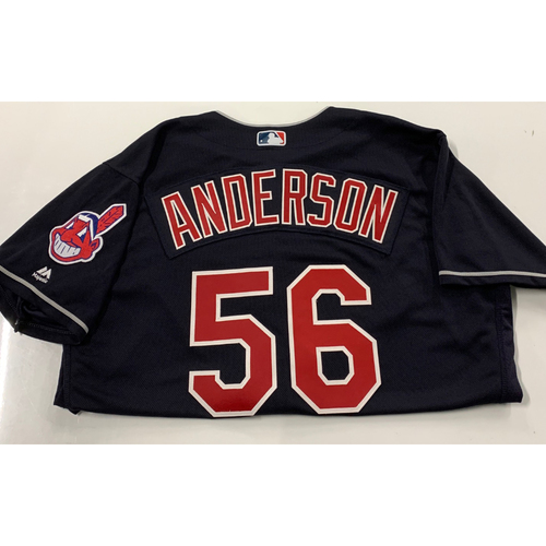 Photo of Cody Anderson Team Issued 2018 Alternate Navy Jersey