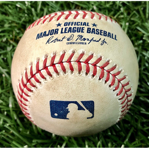 Photo of Game Used Baseball: Ryan Mountcastle walk & Mason Williams single off Tyler Glasnow - August 25, 2020 v BAL