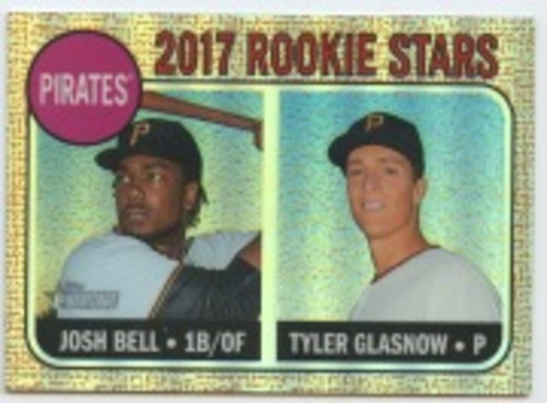 Photo of 2017 Topps Heritage Chrome Refractors #36 Josh Bell/Tyler Glasnow