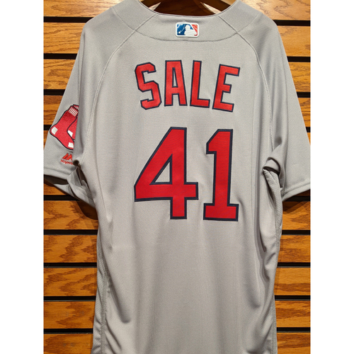 Photo of Chris Sale #41 Team Issued Road Gray Jersey