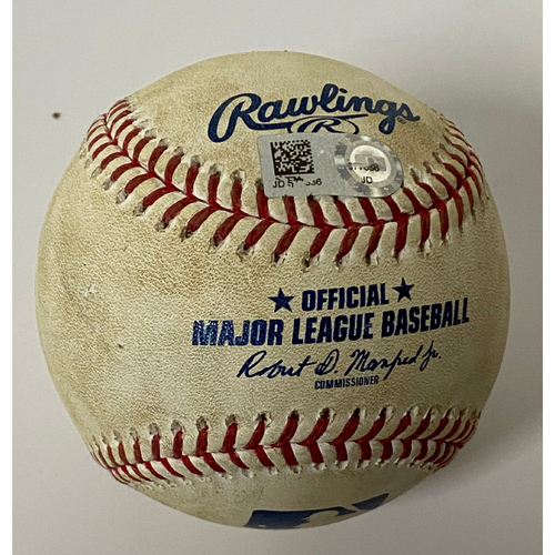 Photo of Game-Used 2020 Baseball - Detroit Tigers at Cleveland Indians - Willi Castro Home Run off Triston McKenzie - 8/22/20