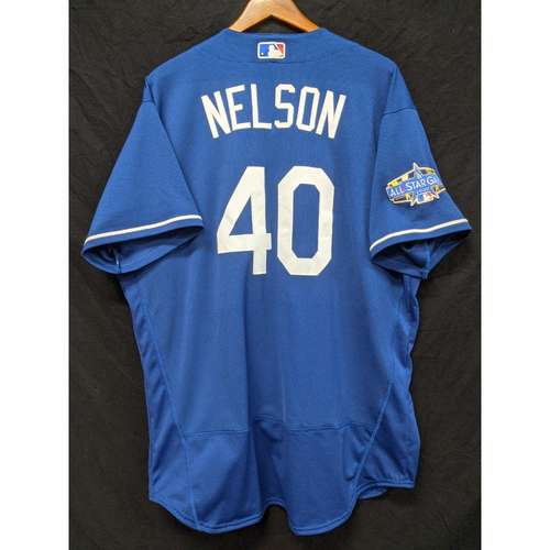 Photo of Jimmy Nelson Team-Issued 2020 Spring Training Jersey with 2020 All Star Patch