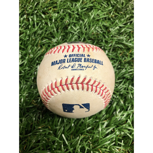 Photo of Spring Training Game Used Baseball: Tristan Gray triple off Patrick Weigel - Bottom 5 - February 28, 2021 v ATL