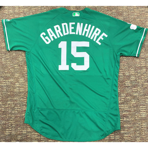 Photo of Ron Gardenhire #15 Detroit Tigers Team-Issued 2019 St. Patrick's Day Jersey (MLB AUTHENTICATED)