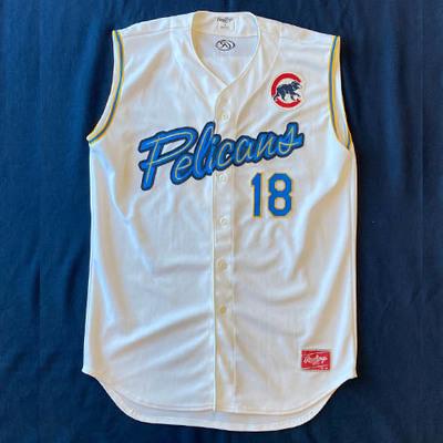 Myrtle Beach Pelicans #18 Ben Zobrist Home White Jersey