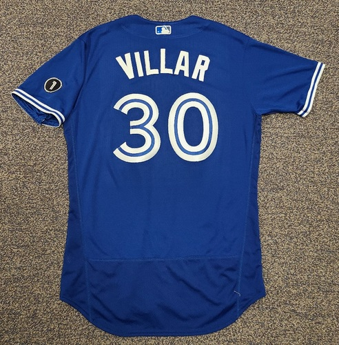 Photo of Authenticated Team Issued Jersey: #30 Jonathan Villar (2020 Season). No Set. Size 46.