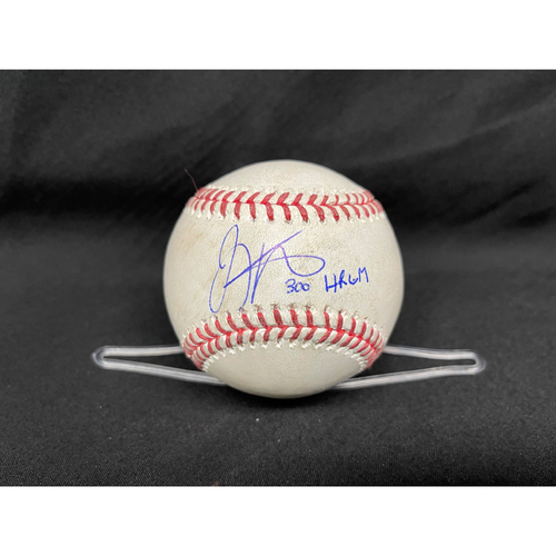 Photo of Joey Votto *Game-Used, Autographed & Inscribed* Baseball from 300th Career HR Game - Wade Miley to Anthony Rizzo (Ball) -- 04/30/2021 - CHC vs. CIN - Top 1