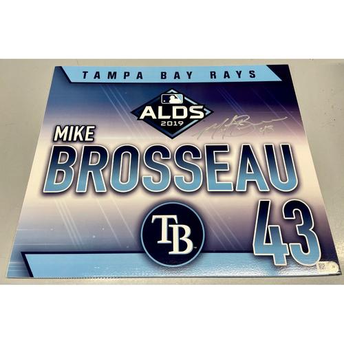 Photo of Team Issued Autographed ALDS Locker Tag: Mike Brosseau - October 7, 2019 v HOU