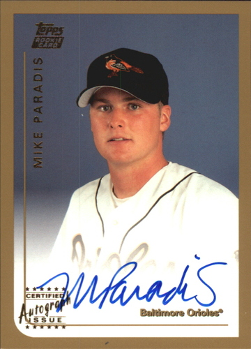 Photo of 1999 Topps Traded Autographs #T69 Mike Paradis