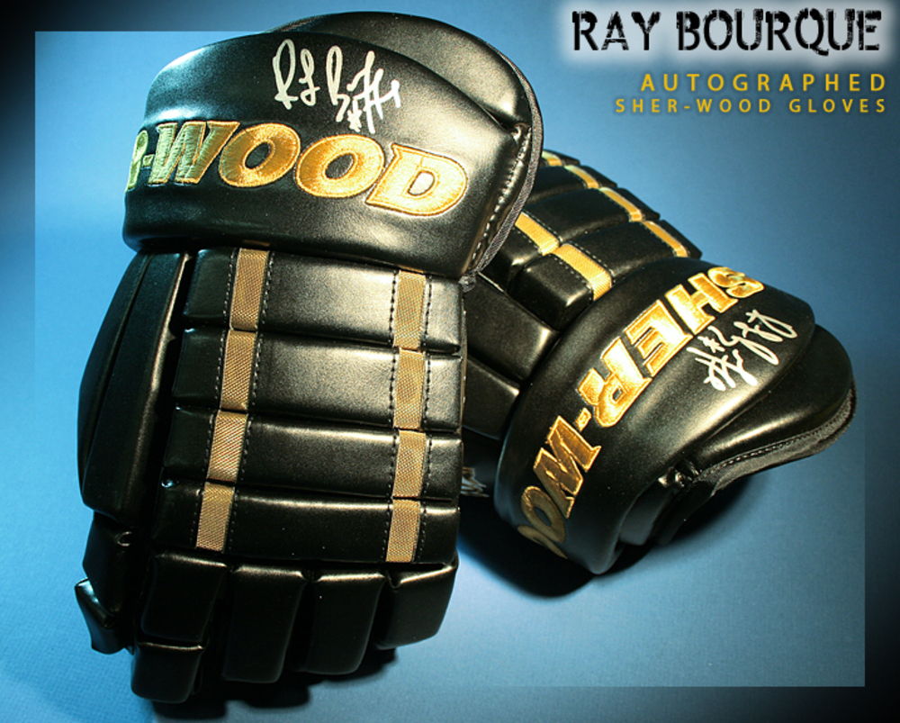 RAY BOURQUE Signed Boston Bruins Player Model Sher-Wood Gloves