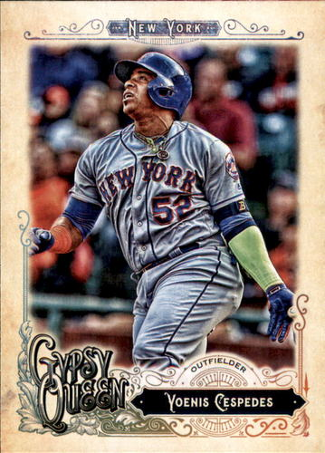 Photo of 2017 Topps Gypsy Queen #127 Yoenis Cespedes