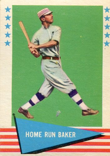 Photo of 1961 Fleer #6 Frank Baker Hall of Fame Class of 1955