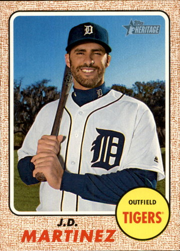 Photo of 2017 Topps Heritage #240 J.D. Martinez -- D'backs post-season