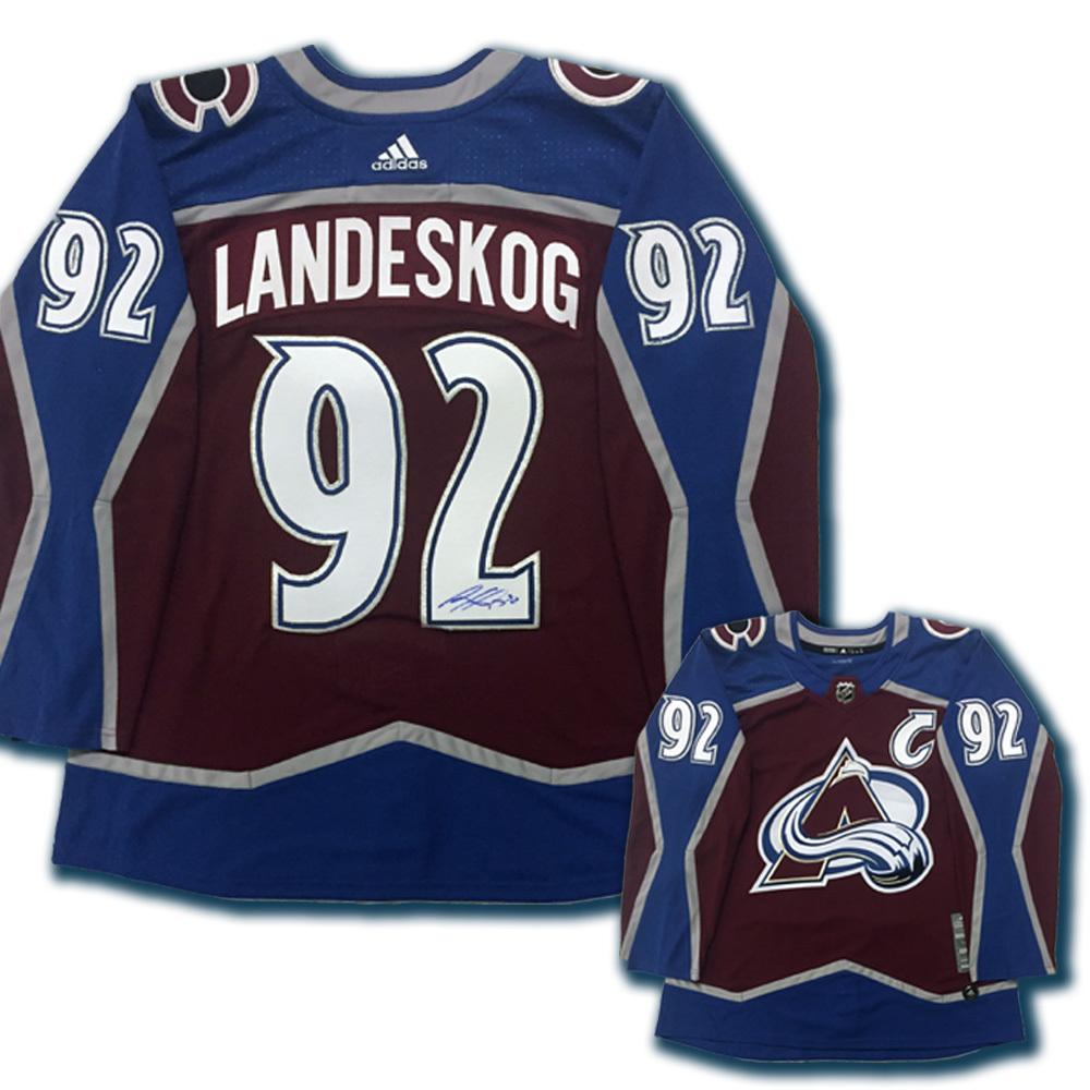 GABRIEL LANDESKOG Signed Colorado Avalanche Burgundy Adidas PRO Jersey