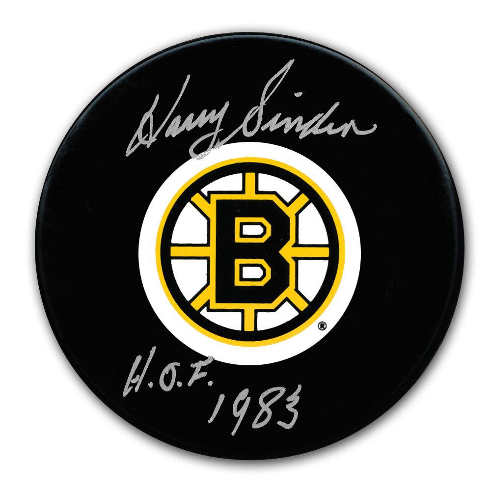 Harry Sinden Boston Bruins HOF Autographed Puck