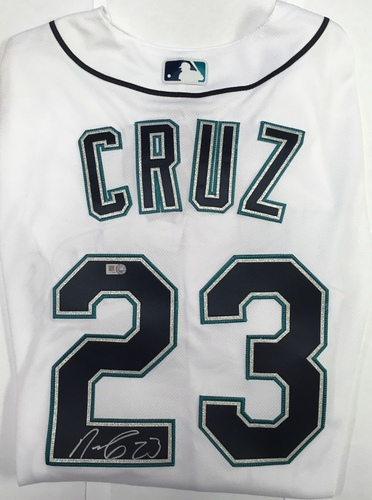 Photo of Nelson Cruz Autographed Authentic Mariners Jersey