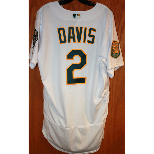 Photo of Khris Davis Game-Used Jersey (Sean Manaea's No-Hitter Game vs BOS 4/21/18)