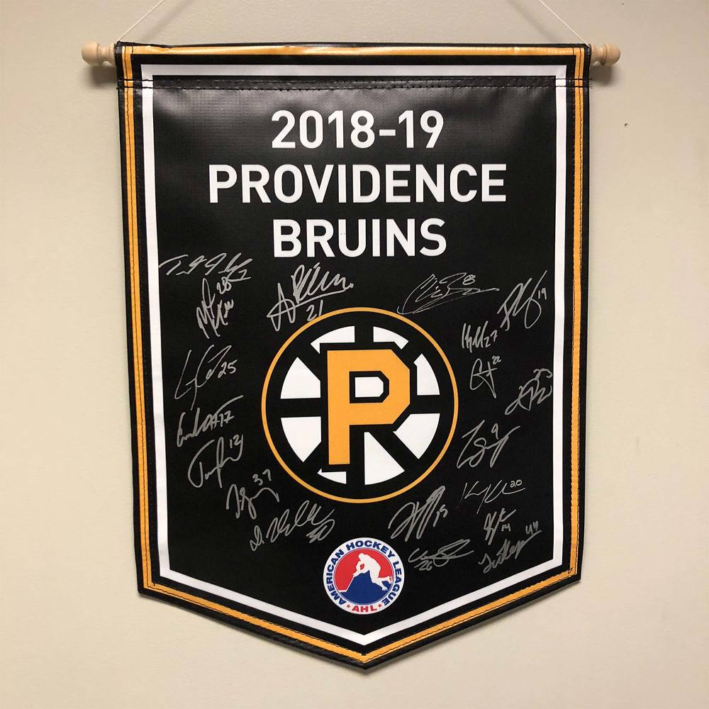 2018-19 Providence Bruins Team-Signed Banner