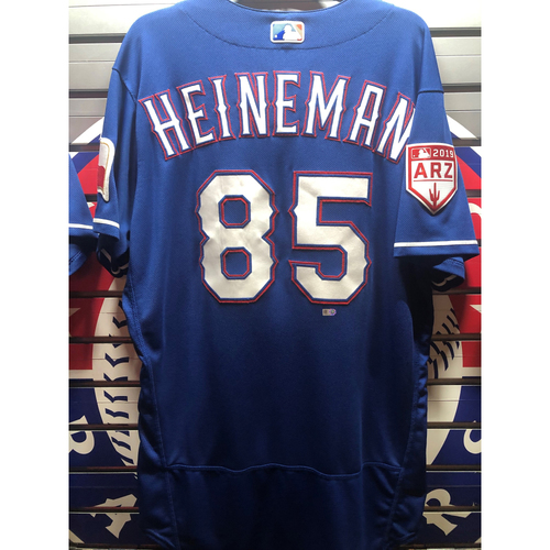 Photo of Scott Heineman Blue Team-Issued Spring Training Jersey