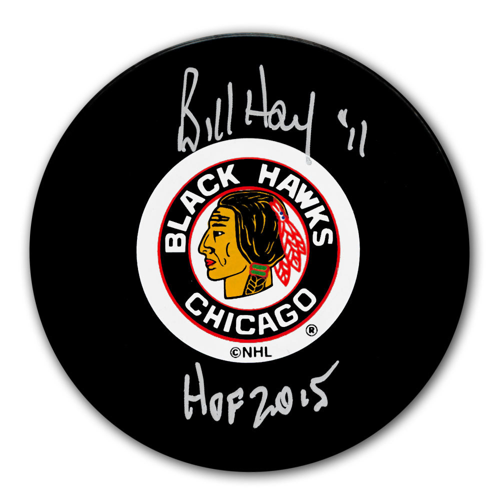 Bill Hay Chicago Blackhawks HOF Autographed Puck