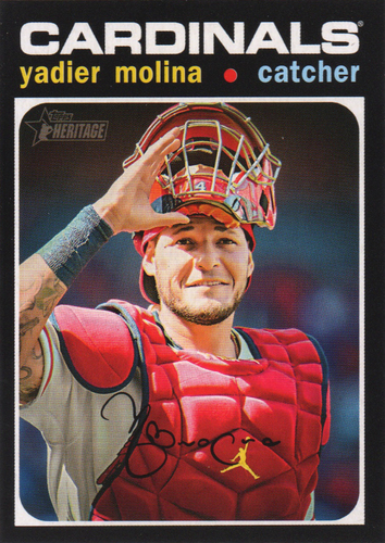 Photo of 2020 Topps Heritage #400 Yadier Molina