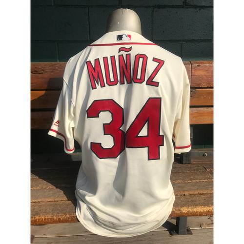 Photo of Cardinals Authentics: Yairo Munoz Game Worn Home Ivory Postseason Jersey