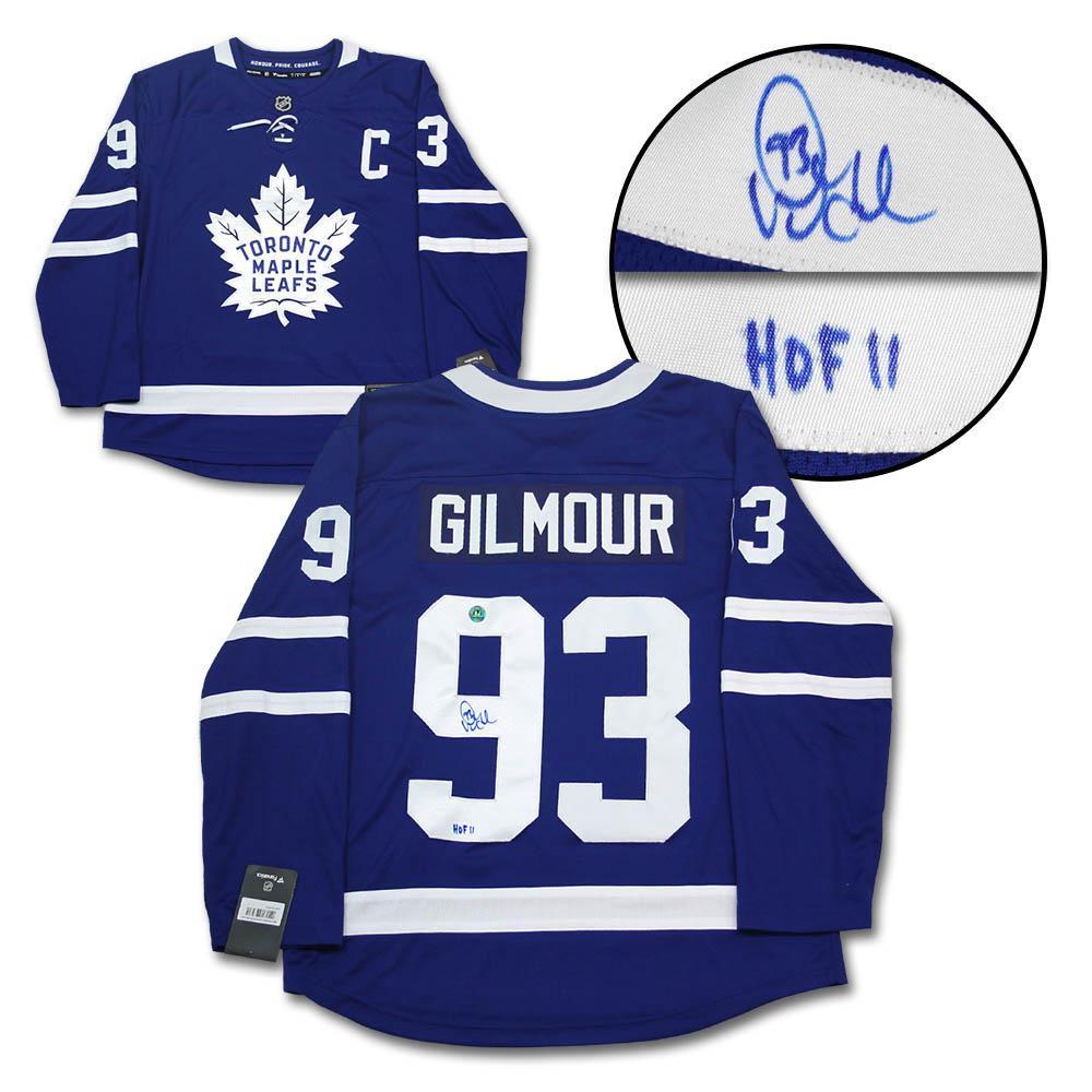 Doug Gilmour Toronto Maple Leafs Autographed Blue Fanatics Replica Hockey Jersey