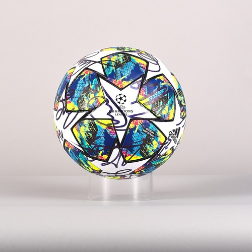 Photo of A 19/20 Champions League ball signed by the SSC Napoli Team