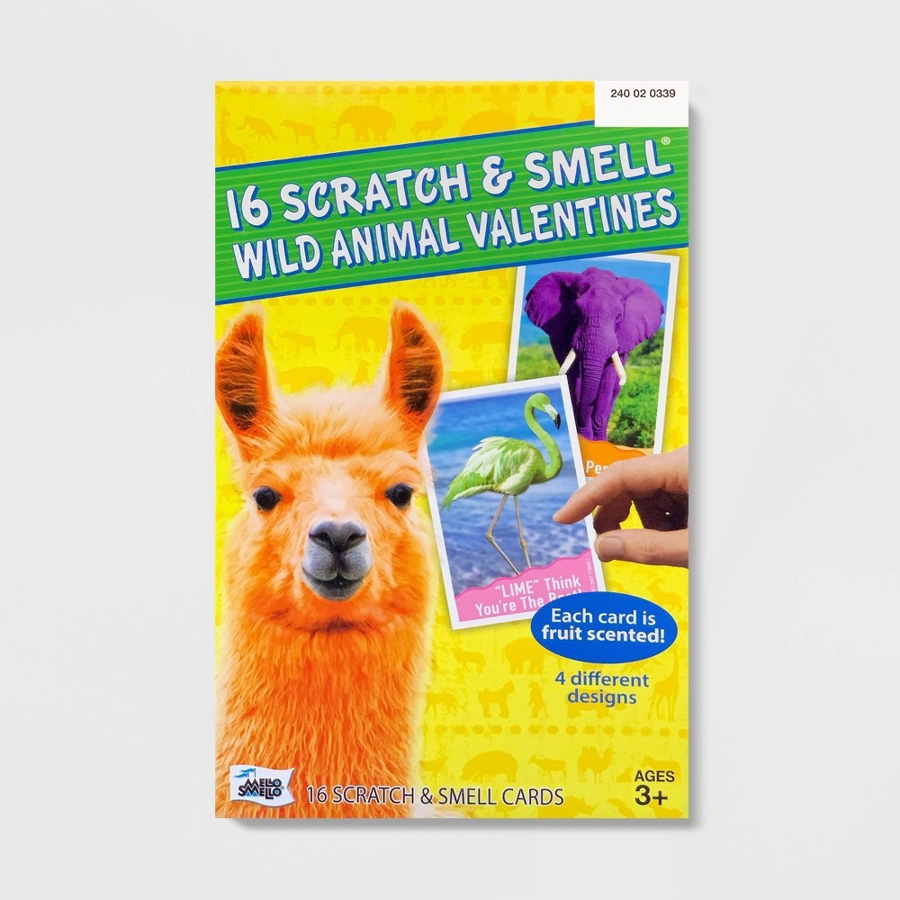 Photo of 16ct Valentines Wild Animal Scratch And Smell Kit