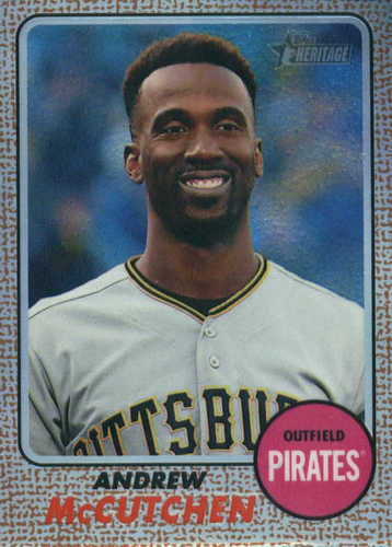 Photo of 2017 Topps Heritage Chrome Refractors #THC402 Andrew McCutchen