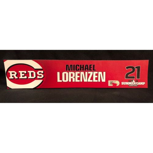 Photo of Michael Lorenzen -- 2020 Sumer Camp Locker Tag -- Team-Issued
