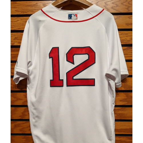 Photo of Brock Holt #12 Game Used Home White Jersey