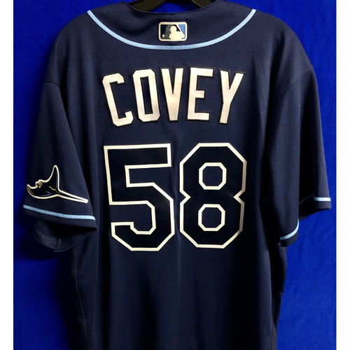 Photo of Team Issued Navy Jersey: Dylan Covey