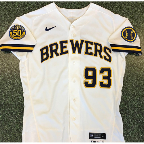 Photo of Mario Feliciano 2020 Team-Issued Home Cream Jersey