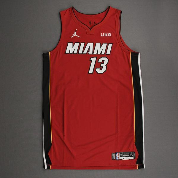 Image of Bam Adebayo - Miami Heat - Game-Worn - Statement Edition Jersey - Christmas Day 2020