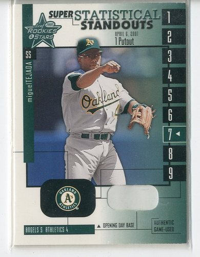 Photo of 2001 Leaf Rookies and Stars Statistical Standouts Super #SS7 Miguel Tejada