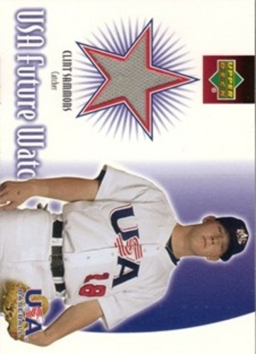 Photo of 2002 Upper Deck Rookie Update USA Future Watch Swatches #CS Clint Sammons Jersey