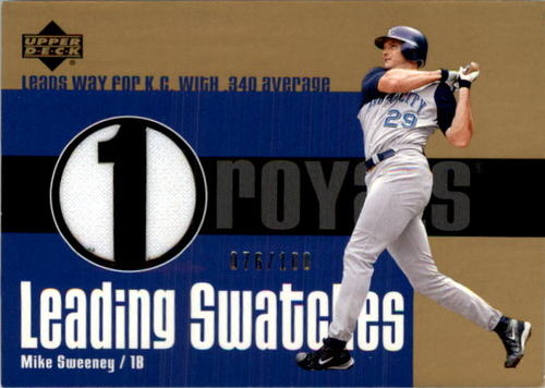Photo of 2003 Upper Deck Leading Swatches Gold #MSL Mike Sweeney AVG