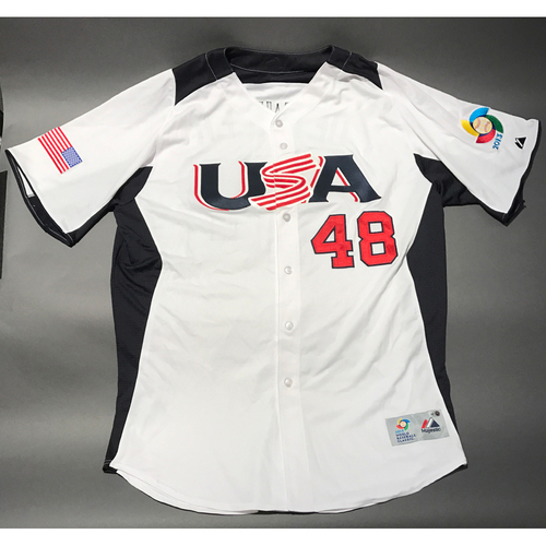 Photo of 2013 World Baseball Classic Jersey - USA Jersey, Ross Detwiler #48