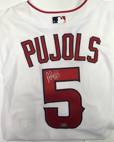 Photo of Albert Pujols Autographed Authentic Angels Jersey