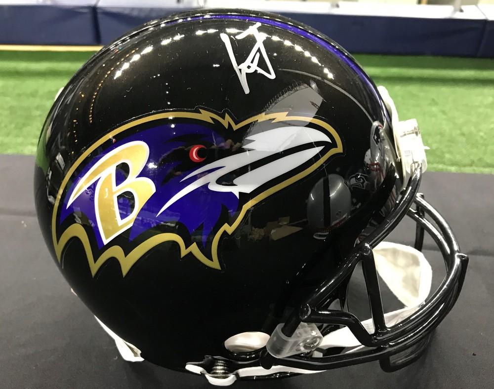 NFL Draft - Lamar Jackson Signed Ravens Helmet