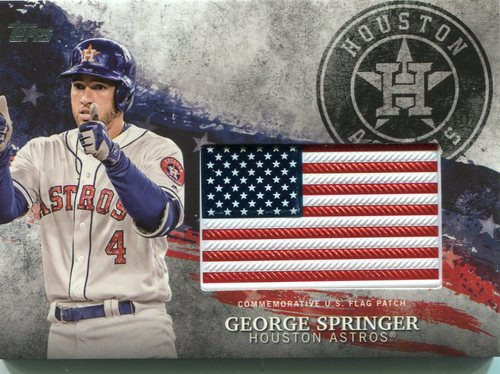 Photo of 2018 Topps Independence Day U.S. Flag Relics #IDMLGP George Springer