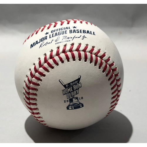 Photo of 2018 Home Run Derby Used Baseball - Batter: Max Muncy (Round 1, HR #4)