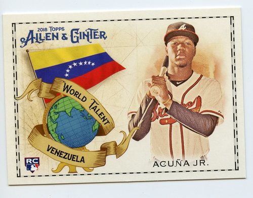 Photo of 2018 Topps Allen and Ginter World Talent #WT2 Ronald Acuna Jr.