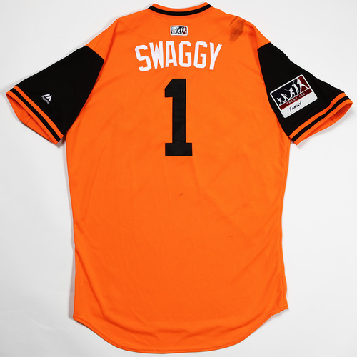 "Photo of Tim ""Swaggy"" Beckham Baltimore Orioles Game-Used 2018 Players' Weekend Jersey"