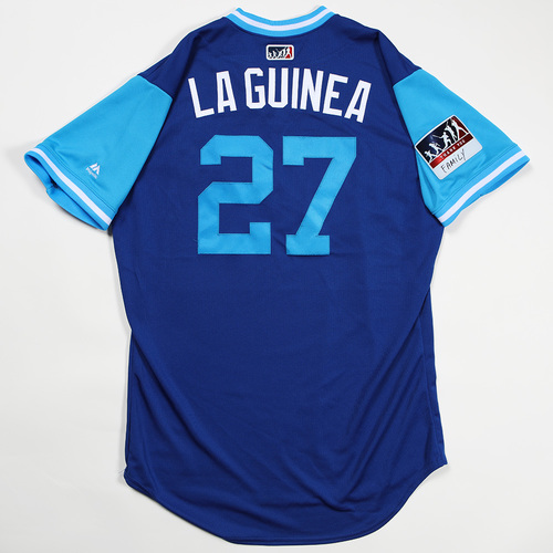 "Photo of Raul ""La Guinea"" Mondesi Kansas City Royals Game-Used Jersey 2018 Players' Weekend Jersey"