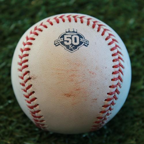 Photo of Game-Used Baseball: Jeimer Candelario 136th Career Hit (DET  @ KC - 8/28/18)